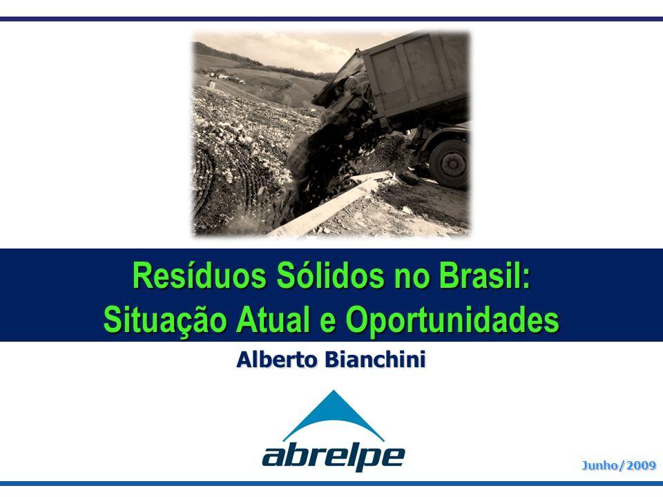 Junho/2009 Alberto Bianchini Resíduos Sólidos no Brasil: Situação Atual e Oportunidades