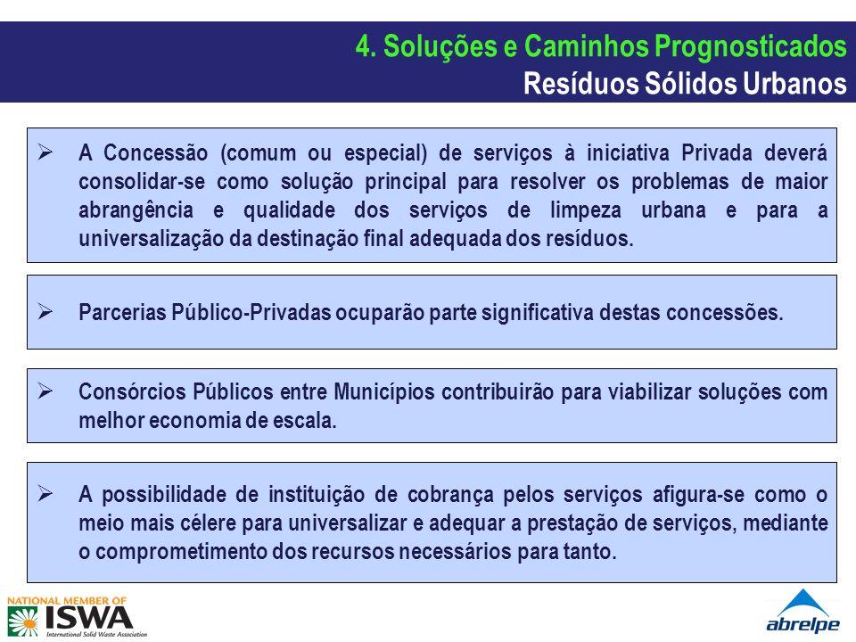 A Concessão (comum ou especial) de serviços à iniciativa Privada deverá consolidar-se como solução principal para resolver os problemas de maior abran