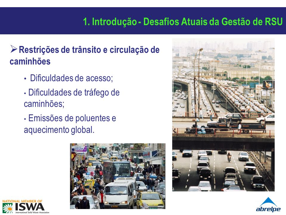 Situação Atual e Problemas dos Resíduos Sólidos Urbanos