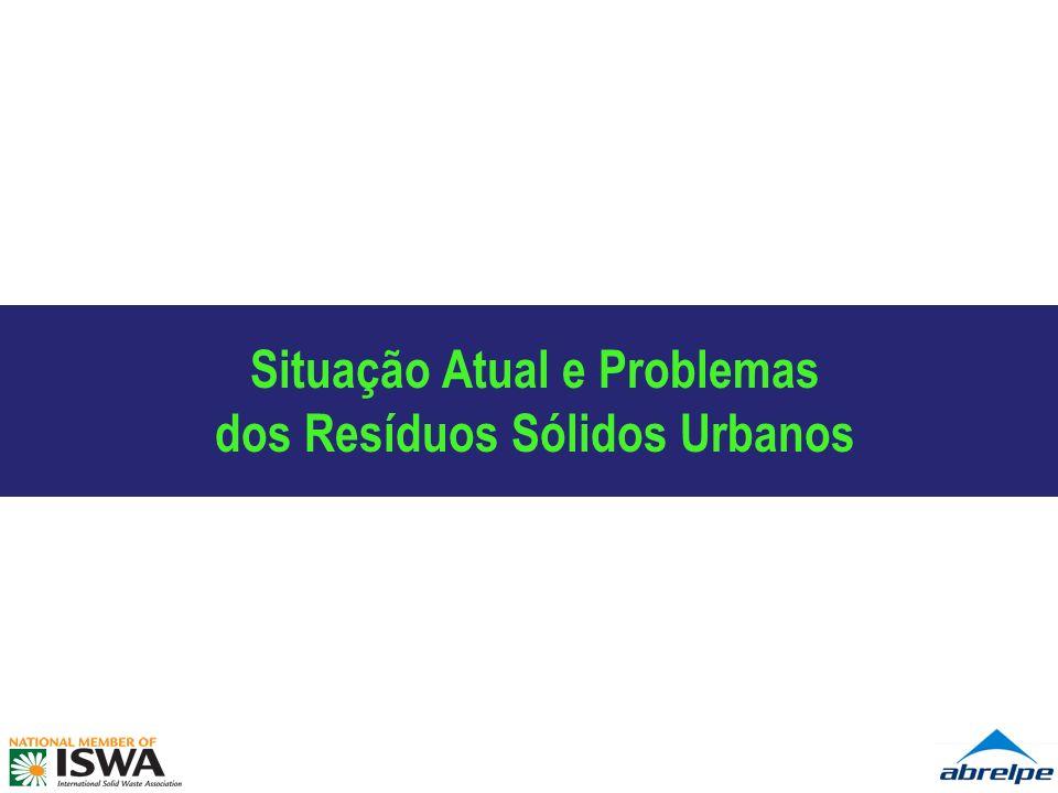 Quantidade de RSU coletados no Brasil em 2008 (t/dia) 5,9% Coleta de RSU per capita (Kg/hab/dia) 2,8% ólidos Urbanos 2.