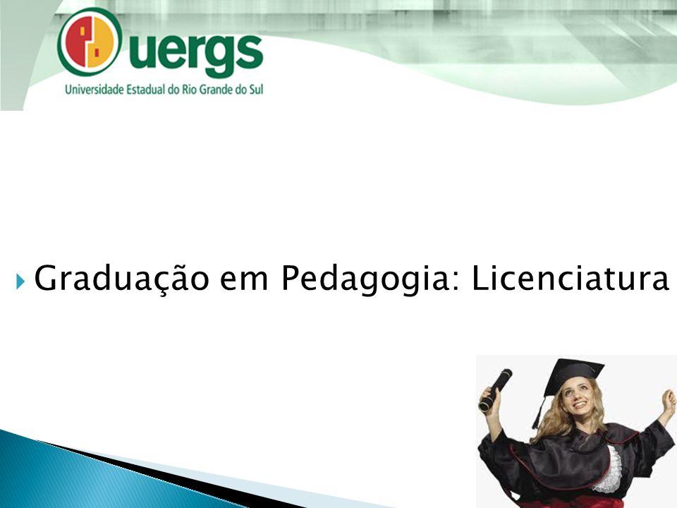 Graduação em Pedagogia: Licenciatura
