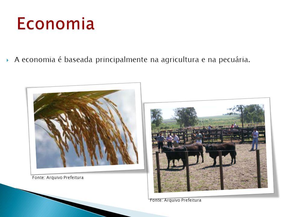 A economia é baseada principalmente na agricultura e na pecuária. Fonte: Arquivo Prefeitura