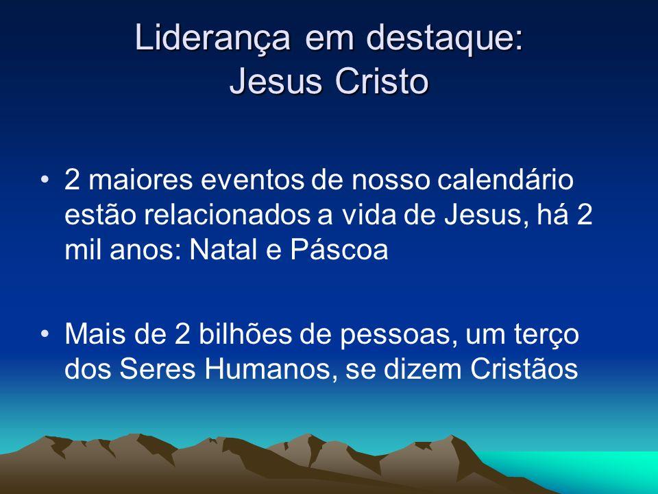 Liderança em destaque: Jesus Cristo 2 maiores eventos de nosso calendário estão relacionados a vida de Jesus, há 2 mil anos: Natal e Páscoa Mais de 2