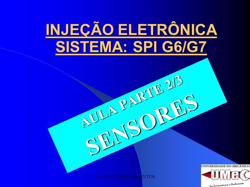 SCOPINO TREINAMENTOS INJEÇÃO ELETRÔNICA SISTEMA: SPI G6/G7 AULA PARTE 2/3 SENSORES