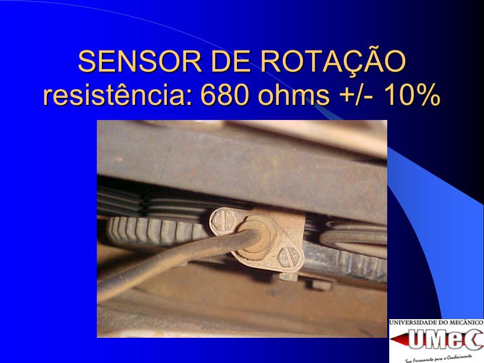 TEMPERATURA DE ÁGUA Este sensor é um termistor NTC – Coeficiente Negativo de Temperatura - e está fixo na carcaça da válvula termostática.