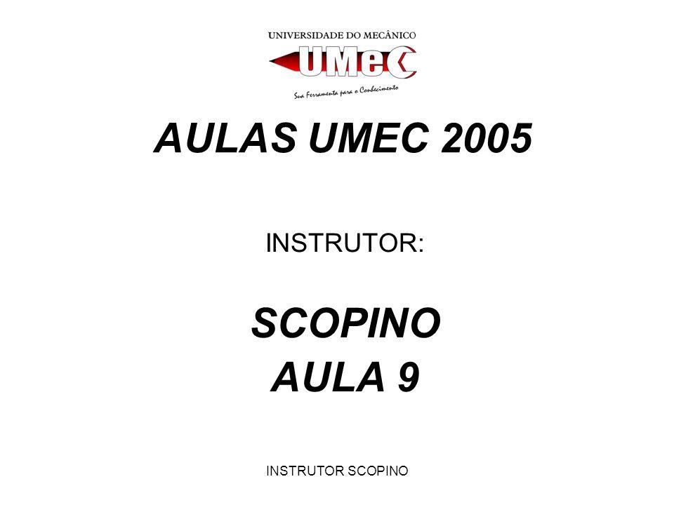 INSTRUTOR SCOPINO AULAS UMEC 2005 INSTRUTOR: SCOPINO AULA 9