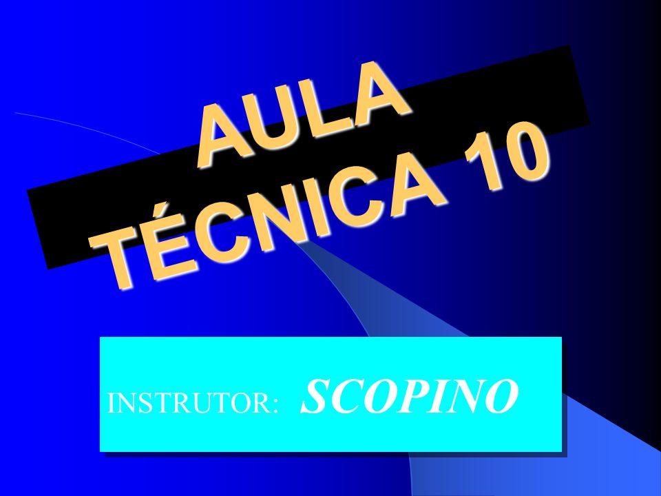AULA TÉCNICA 10 AULA TÉCNICA 10 INSTRUTOR: SCOPINO
