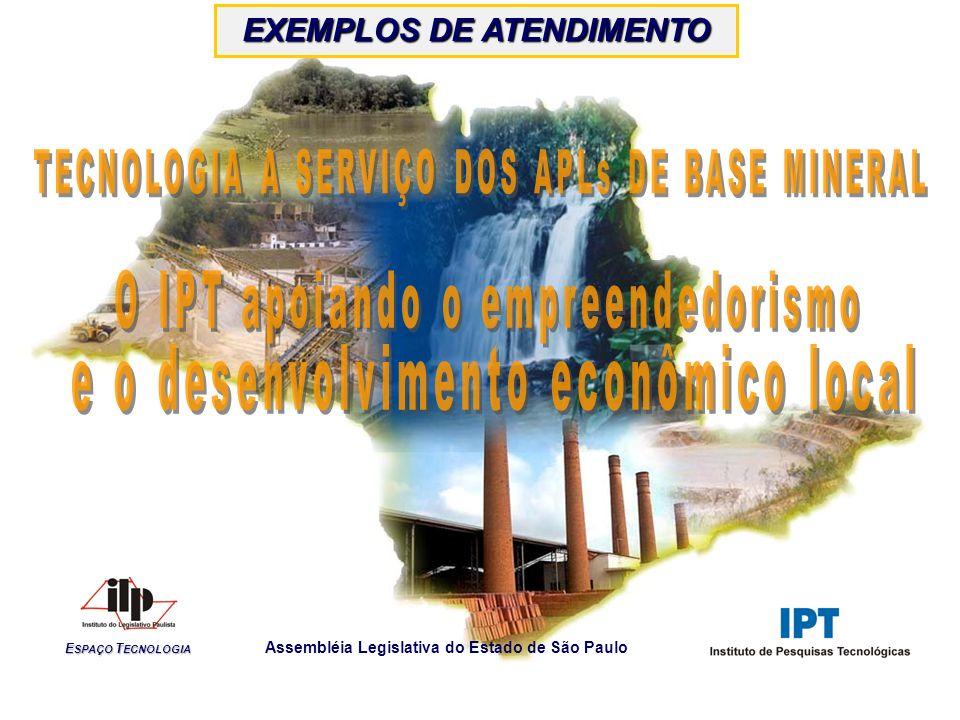 E SPAÇO T ECNOLOGIA Assembléia Legislativa do Estado de São Paulo EXEMPLOS DE ATENDIMENTO