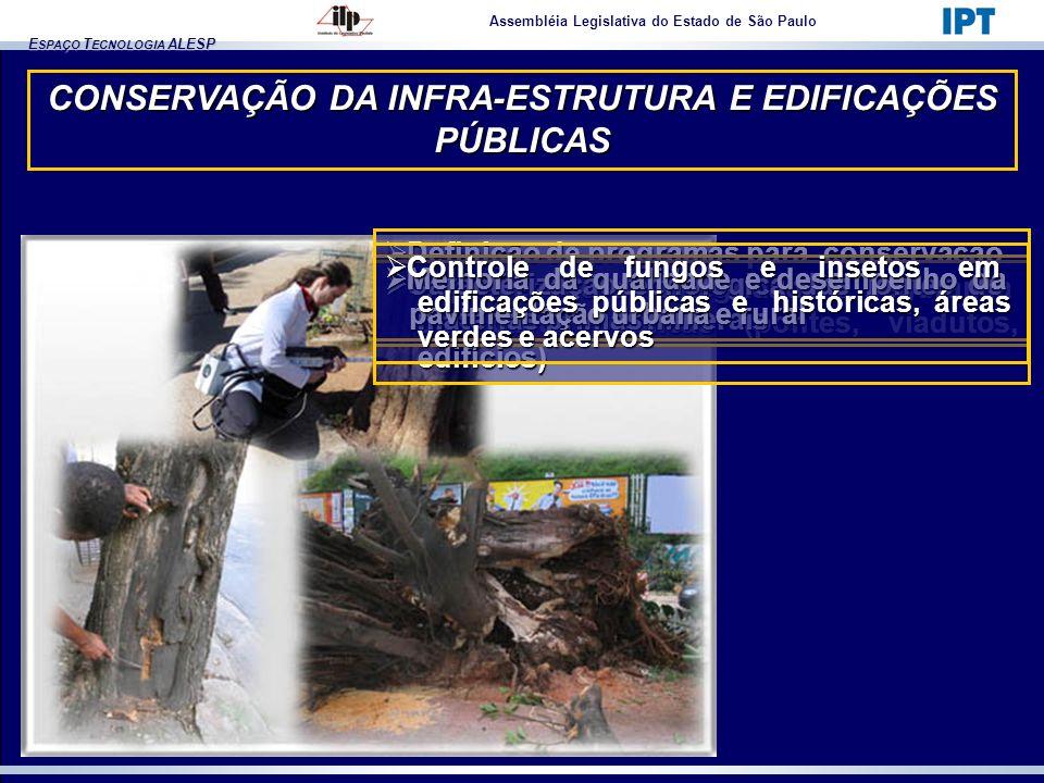 E SPAÇO T ECNOLOGIA ALESP CONSERVAÇÃO DA INFRA-ESTRUTURA E EDIFICAÇÕES PÚBLICAS Assembléia Legislativa do Estado de São Paulo Definição de programas p
