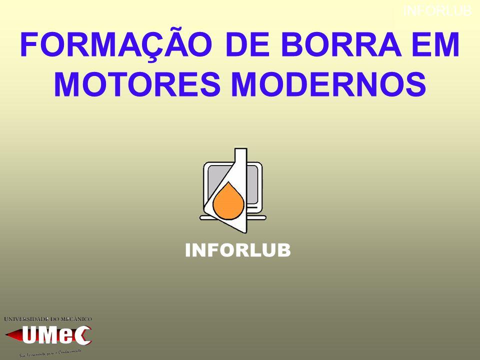 INFORLUB FORMAÇÃO DE BORRA EM MOTORES MODERNOS INFORLUB