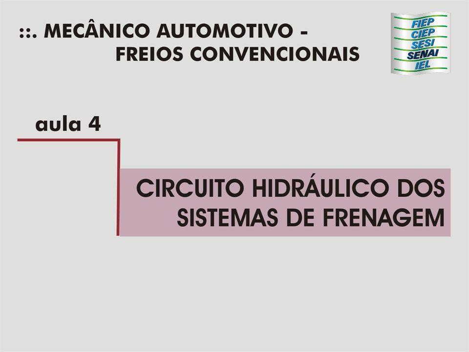 Cilindro Mestre simples Funcionamento, desaplicação 1) Ao desdaplicarmos os freios o pedal não atua mais sobre o embolo do cilindro mestre.