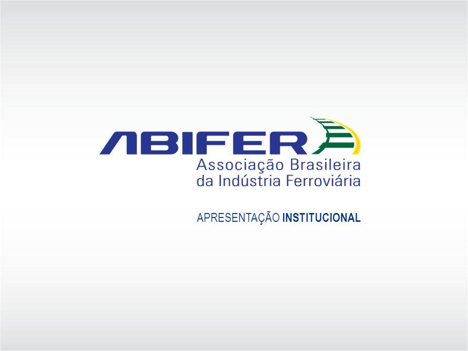 NOSSA MISSÃO Fomentar o crescimento da indústria ferroviária instalada no País, defendendo a expansão do transporte ferroviário de carga e de passageiros no Brasil e apoiando permanentemente as concessionárias e seus usuários.