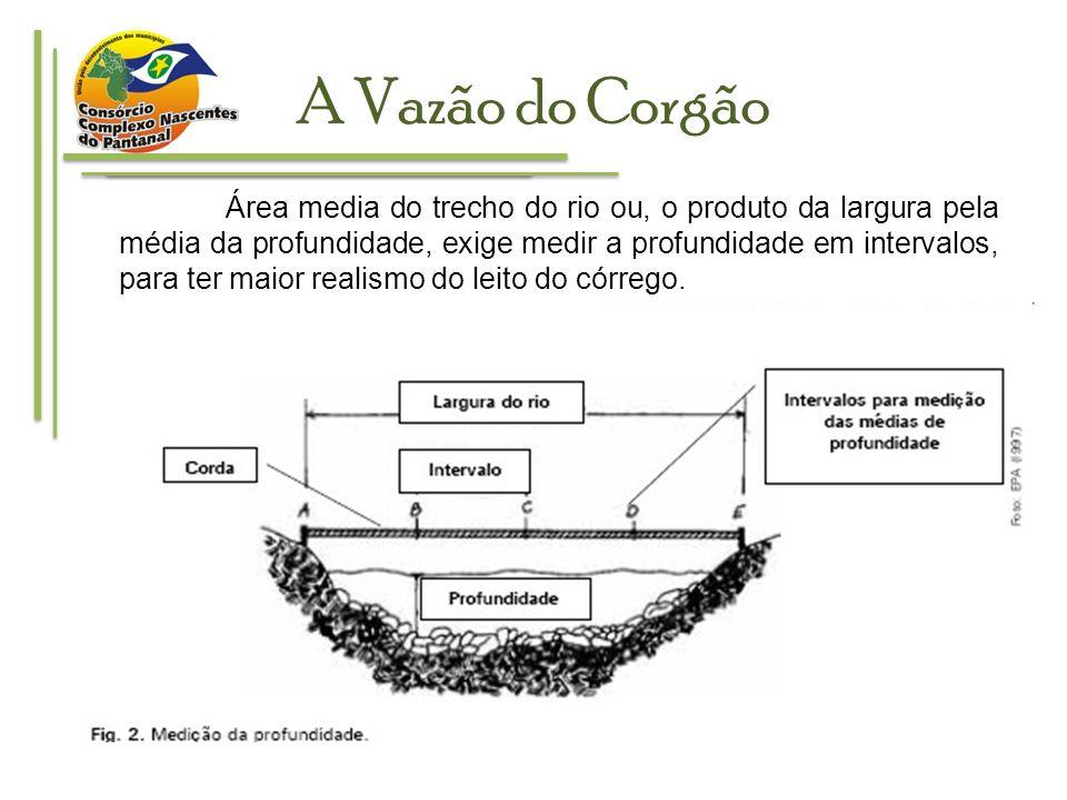 A Vazão do Corgão REFERENCIAS: EMBRAPA: Comunicado Técnico 455.