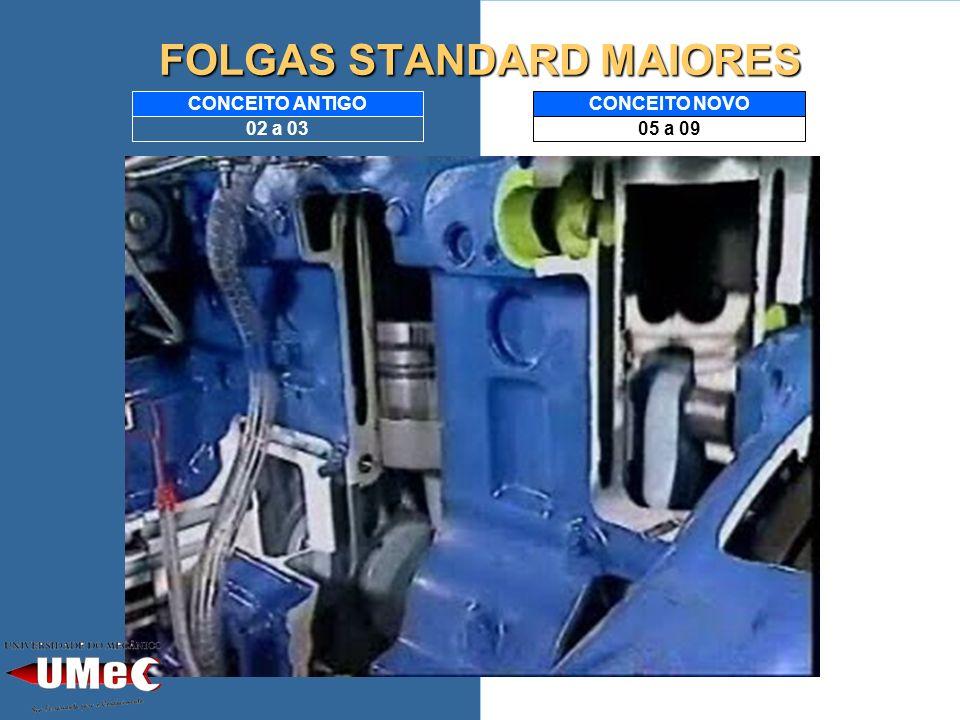 FOLGAS STANDARD MAIORES 05 a 09 CONCEITO NOVO 02 a 03 CONCEITO ANTIGO