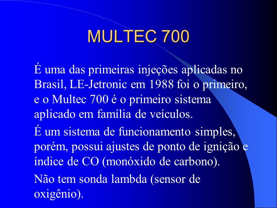 MULTEC 700 É uma das primeiras injeções aplicadas no Brasil, LE-Jetronic em 1988 foi o primeiro, e o Multec 700 é o primeiro sistema aplicado em famíl