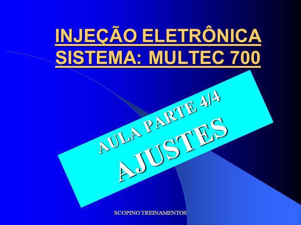 Já vimos os atuadores do sistema Multec 700 na aula passada. Agora veremos: AJUSTES Linha GM