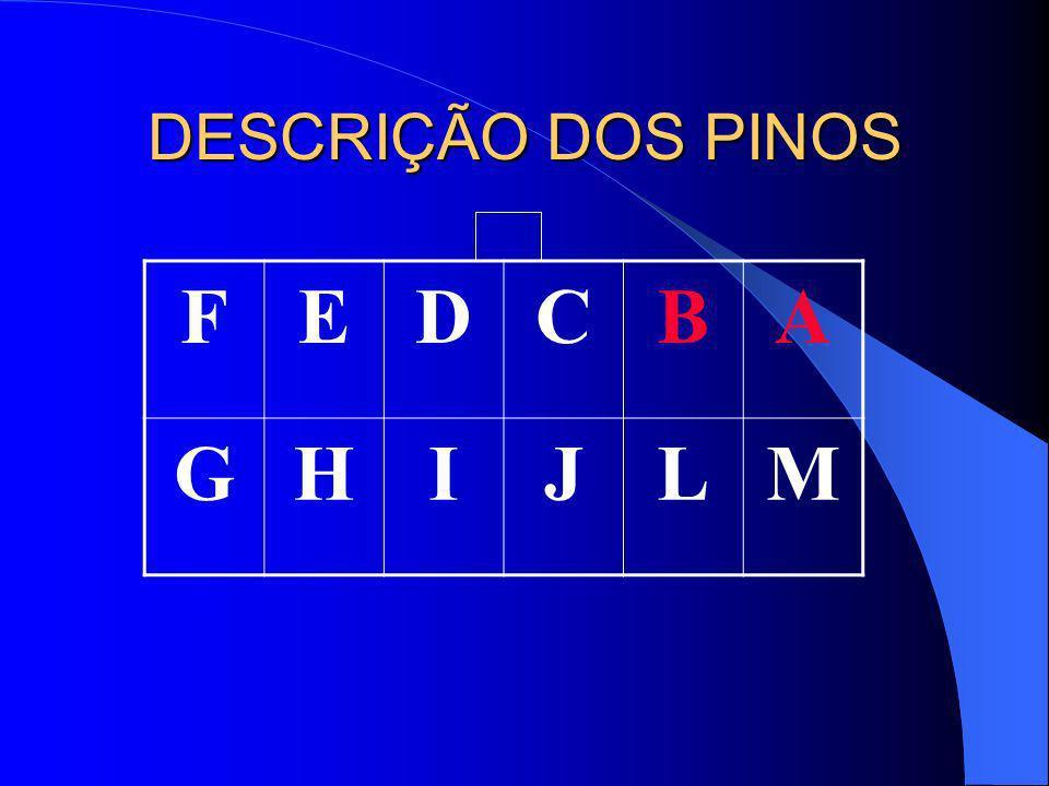 DESCRIÇÃO DOS PINOS FEDCBA GHIJLM