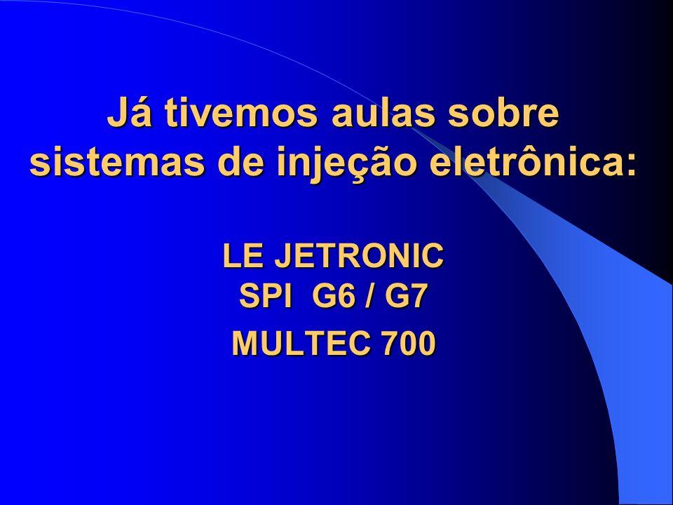 Já tivemos aulas sobre sistemas de injeção eletrônica: LE JETRONIC SPI G6 / G7 MULTEC 700