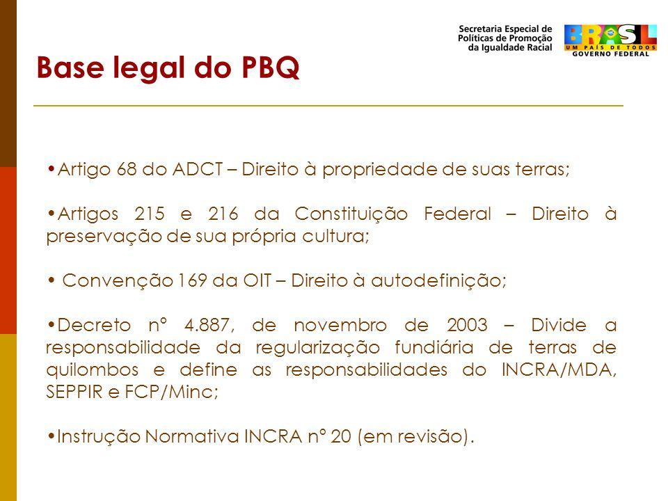 Artigo 68 do ADCT – Direito à propriedade de suas terras; Artigos 215 e 216 da Constituição Federal – Direito à preservação de sua própria cultura; Co