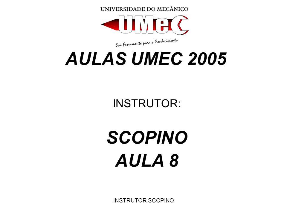 INSTRUTOR SCOPINO AULAS UMEC 2005 INSTRUTOR: SCOPINO AULA 8