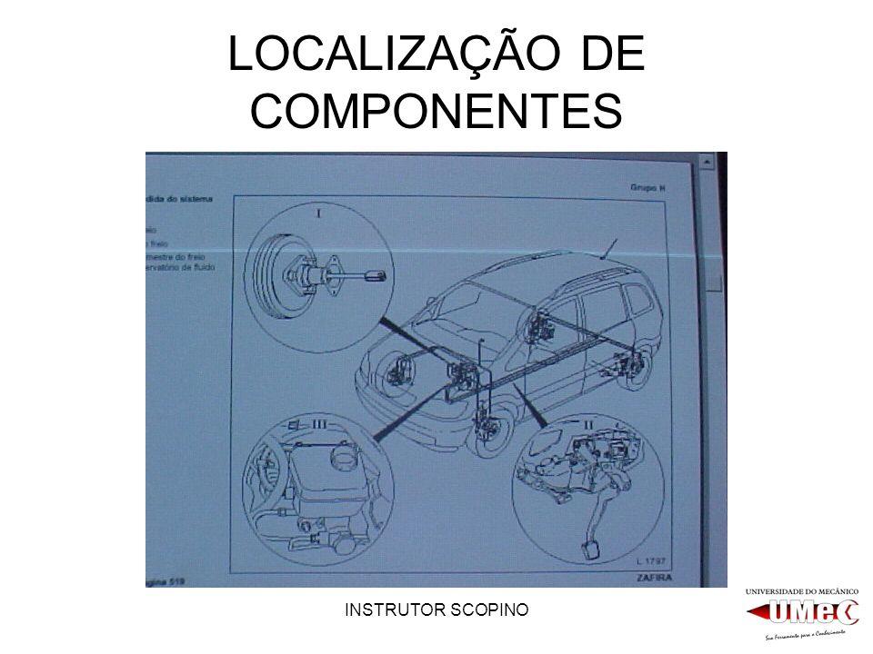 INSTRUTOR SCOPINO LOCALIZAÇÃO DE COMPONENTES