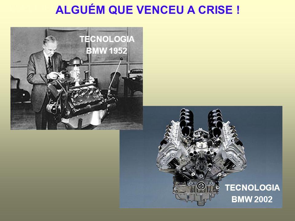 ESPECIFICAÇÕES ALGUÉM QUE VENCEU A CRISE ! TECNOLOGIA BMW 1952 TECNOLOGIA BMW 2002