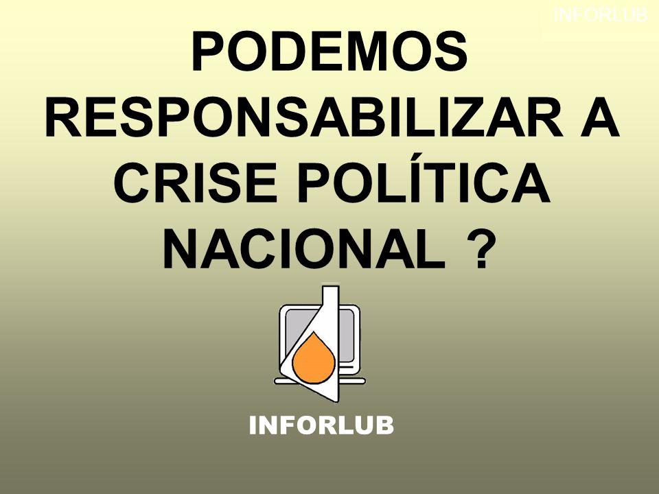 PODEMOS RESPONSABILIZAR A CRISE POLÍTICA NACIONAL ? INFORLUB