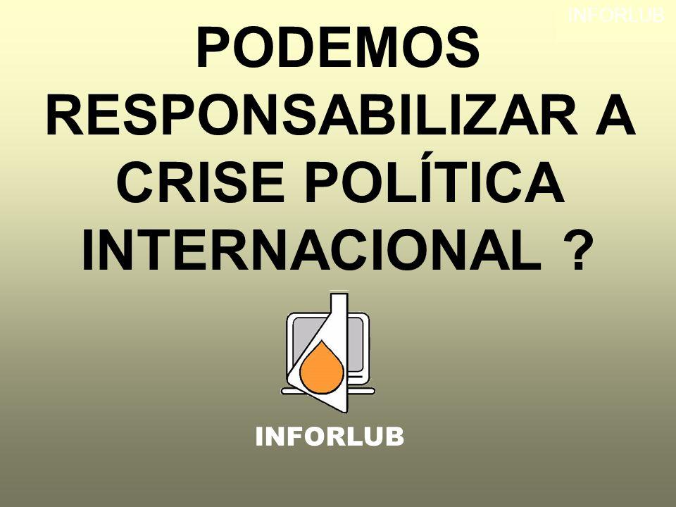 INFORLUB PODEMOS RESPONSABILIZAR A CRISE POLÍTICA INTERNACIONAL ? INFORLUB