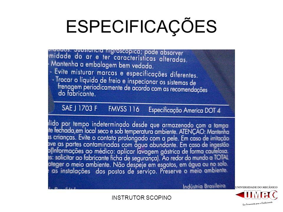 INSTRUTOR SCOPINO ESPECIFICAÇÕES