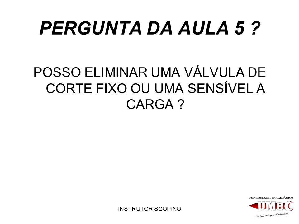 INSTRUTOR SCOPINO PERGUNTA DA AULA 5 .
