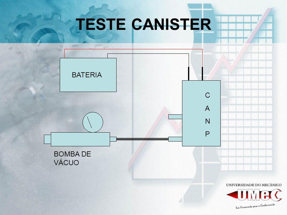 TESTE CANISTER BOMBA DE VÁCUO BATERIA CANPCANP
