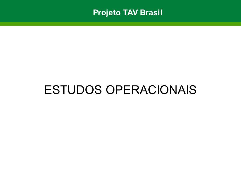 ESTUDOS OPERACIONAIS Projeto TAV Brasil