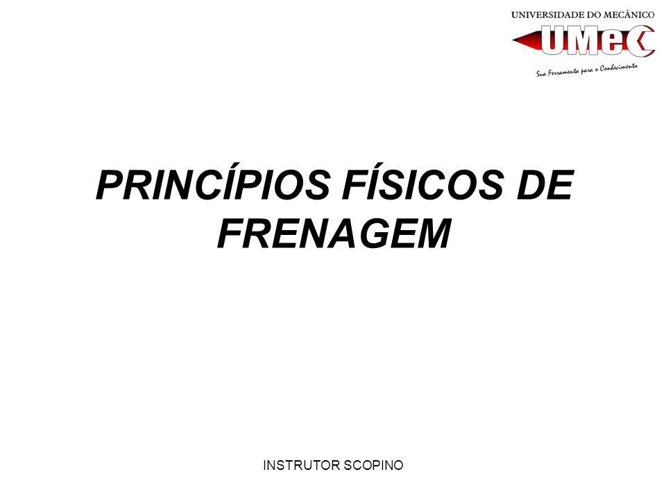 INSTRUTOR SCOPINO PRINCÍPIOS FÍSICOS DE FRENAGEM O QUE TEMOS DE ITENS IMPORTANTES A SABER NO DIA-A-DIA DE NOSSAS OFICINAS