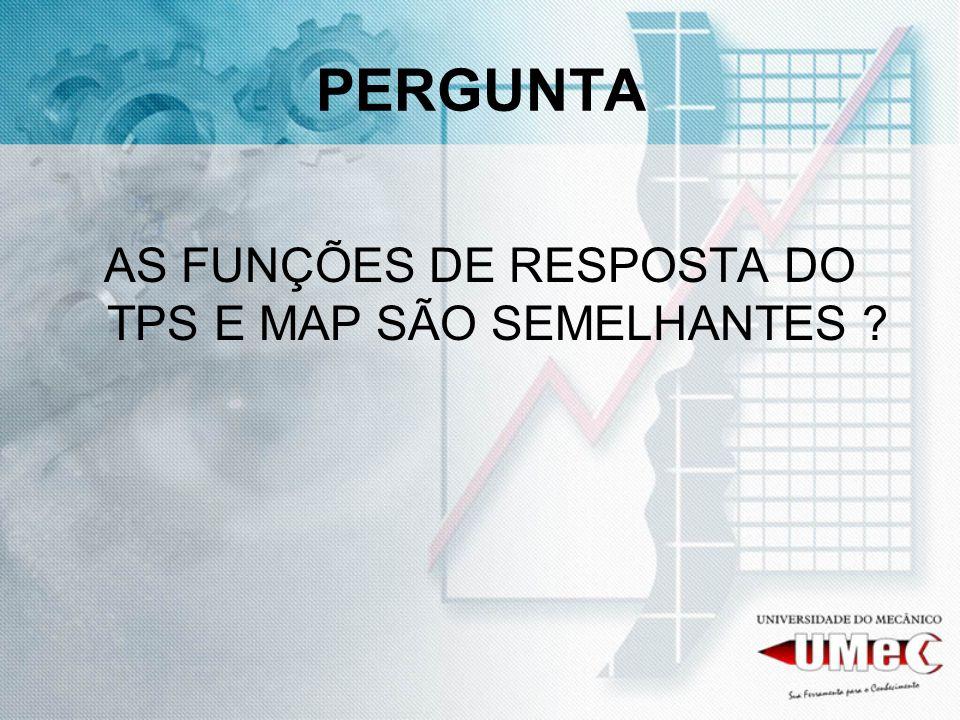 PERGUNTA AS FUNÇÕES DE RESPOSTA DO TPS E MAP SÃO SEMELHANTES ?