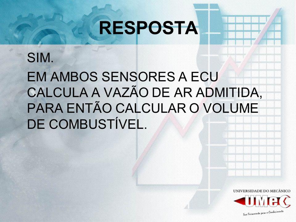 RESPOSTA SIM. EM AMBOS SENSORES A ECU CALCULA A VAZÃO DE AR ADMITIDA, PARA ENTÃO CALCULAR O VOLUME DE COMBUSTÍVEL.