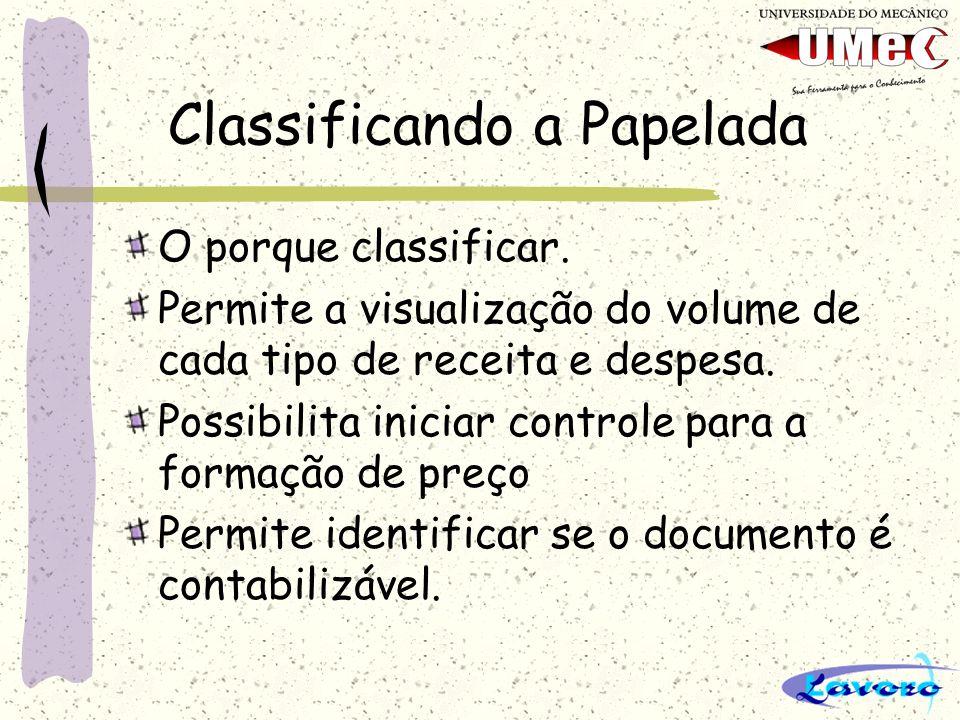 Classificando a Papelada Documentos que podem ser classificados Inicialmente todo e qualquer documento pode ser classificado.