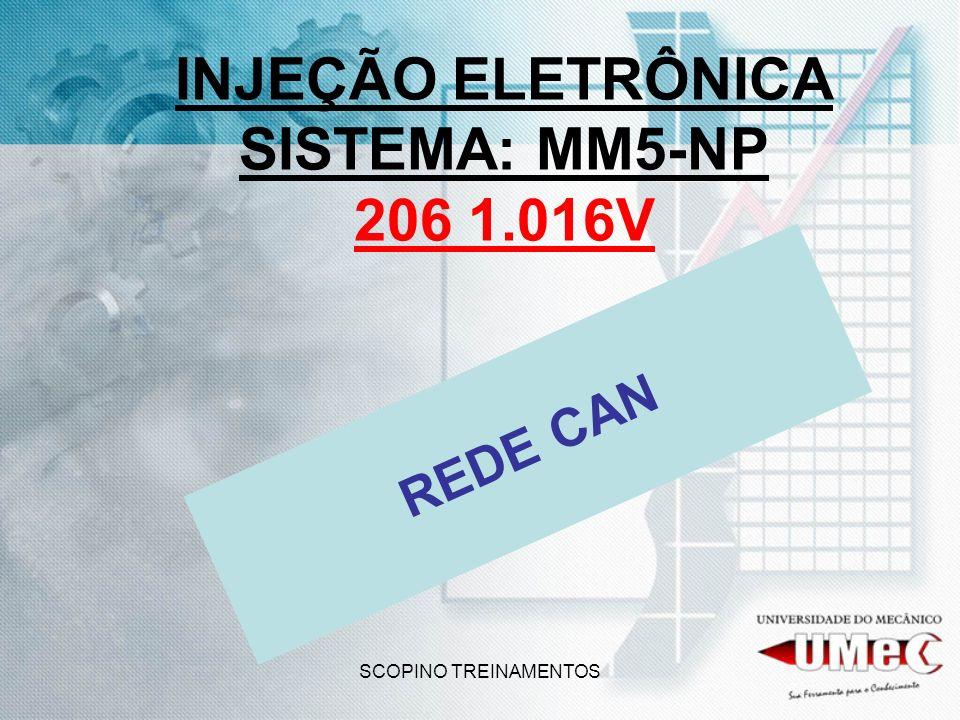 SCOPINO TREINAMENTOS INJEÇÃO ELETRÔNICA SISTEMA: MM5-NP 206 1.016V REDE CAN