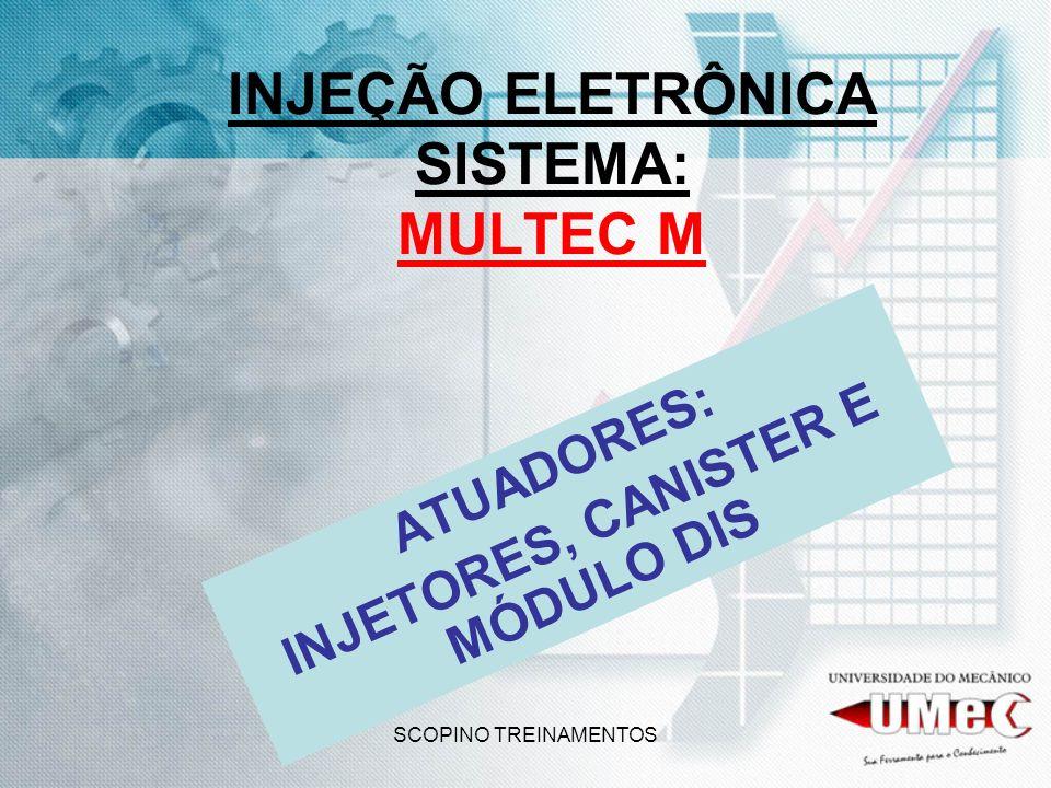 SCOPINO TREINAMENTOS INJEÇÃO ELETRÔNICA SISTEMA: MULTEC M ATUADORES: INJETORES, CANISTER E MÓDULO DIS