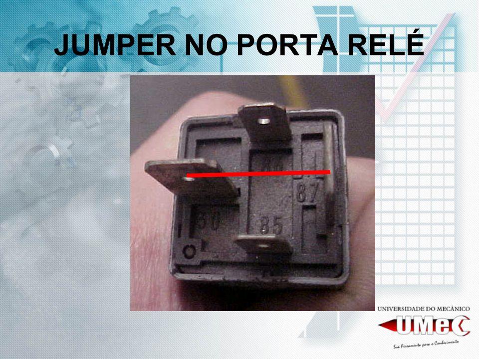 JUMPER NO PORTA RELÉ