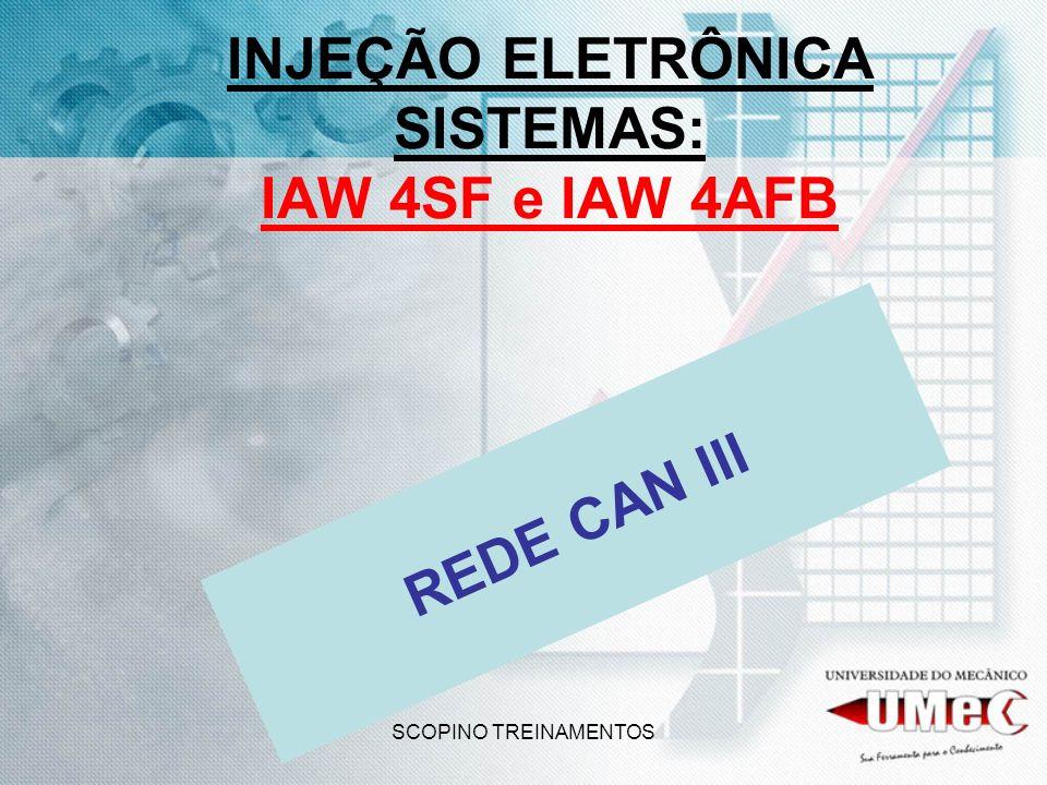 SCOPINO TREINAMENTOS INJEÇÃO ELETRÔNICA SISTEMAS: IAW 4SF e IAW 4AFB REDE CAN III