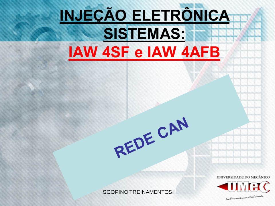 SCOPINO TREINAMENTOS INJEÇÃO ELETRÔNICA SISTEMAS: IAW 4SF e IAW 4AFB REDE CAN