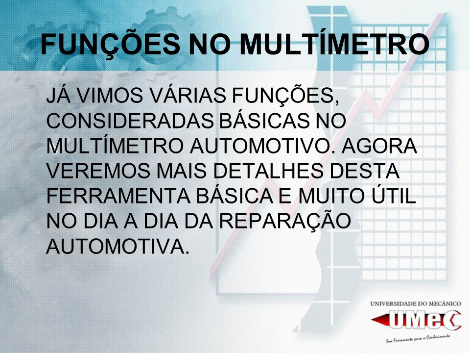 O MULTÍMETRO AUTOMOTIVO