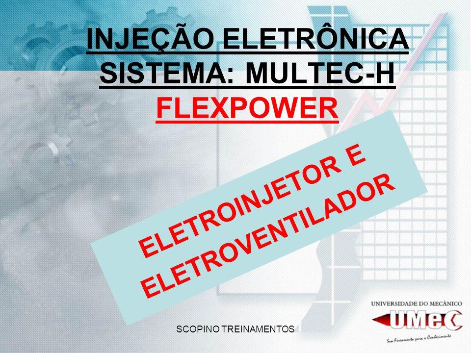 SCOPINO TREINAMENTOS INJEÇÃO ELETRÔNICA SISTEMA: MULTEC-H FLEXPOWER ELETROINJETOR E ELETROVENTILADOR