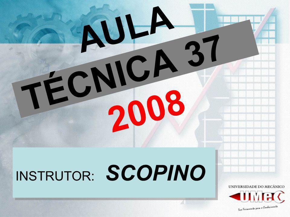 AULA TÉCNICA 37 2008 INSTRUTOR: SCOPINO