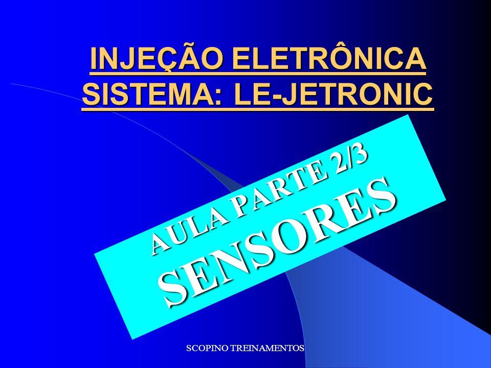 SCOPINO TREINAMENTOS INJEÇÃO ELETRÔNICA SISTEMA: LE-JETRONIC AULA PARTE 2/3 SENSORES