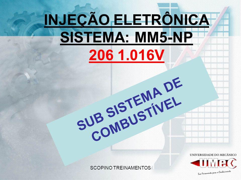 SCOPINO TREINAMENTOS INJEÇÃO ELETRÔNICA SISTEMA: MM5-NP 206 1.016V SUB SISTEMA DE COMBUSTÍVEL
