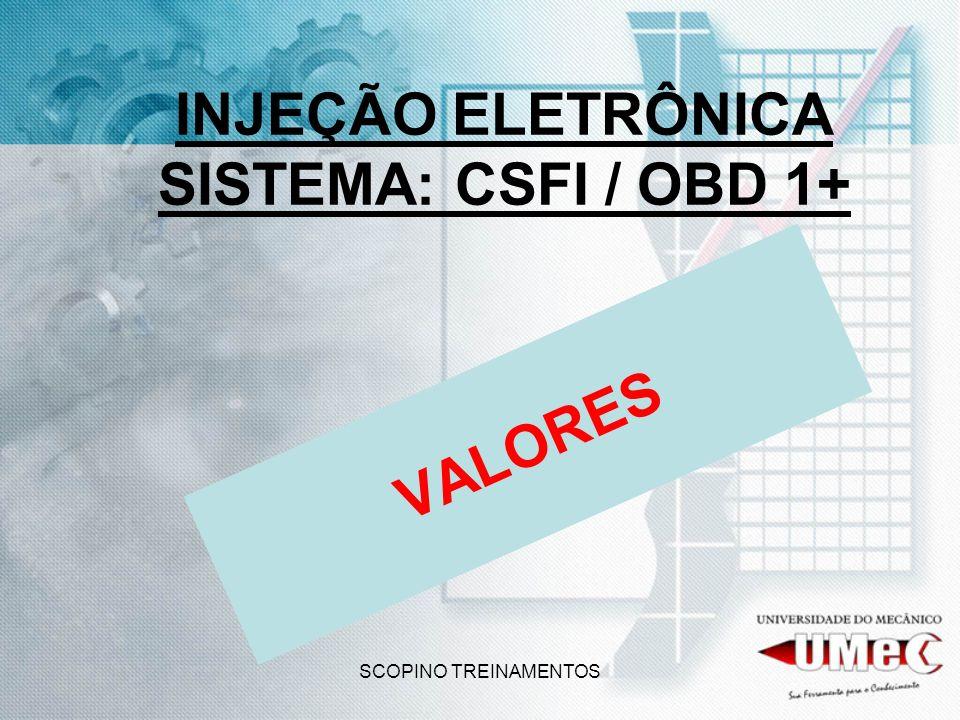 SCOPINO TREINAMENTOS INJEÇÃO ELETRÔNICA SISTEMA: CSFI / OBD 1+ VALORES