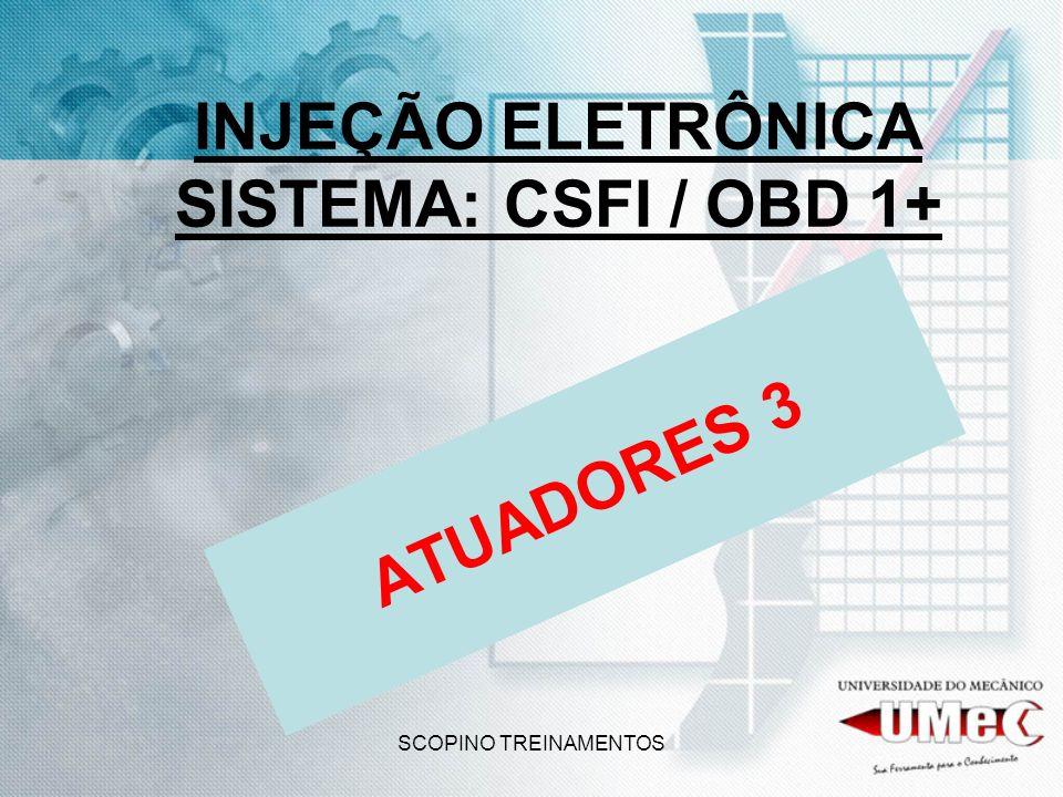 SCOPINO TREINAMENTOS INJEÇÃO ELETRÔNICA SISTEMA: CSFI / OBD 1+ ATUADORES 3
