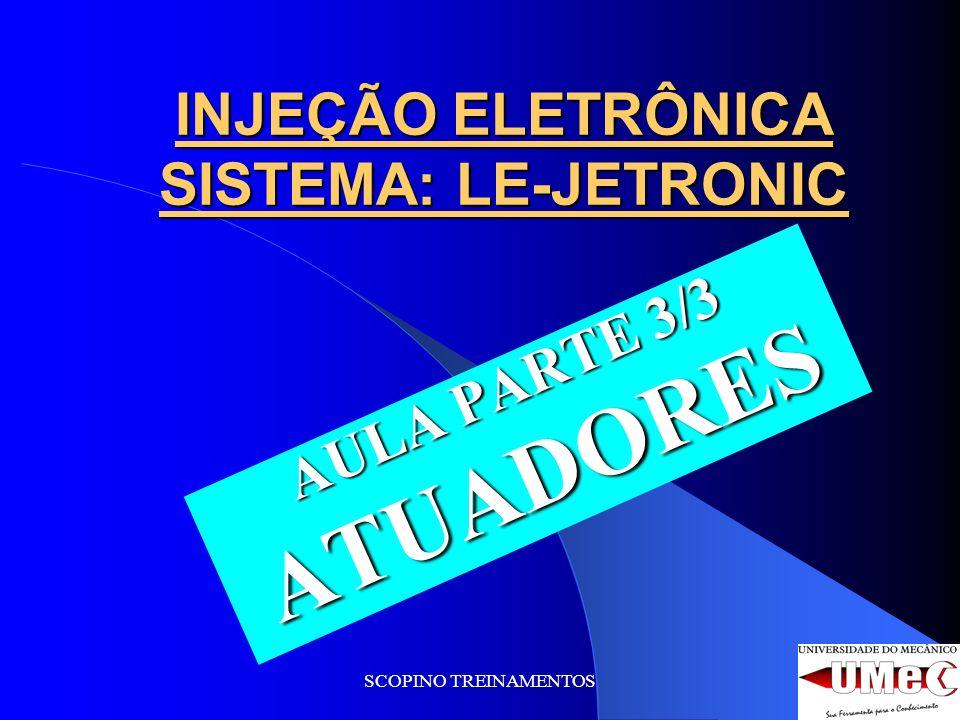SCOPINO TREINAMENTOS INJEÇÃO ELETRÔNICA SISTEMA: LE-JETRONIC AULA PARTE 3/3 ATUADORES