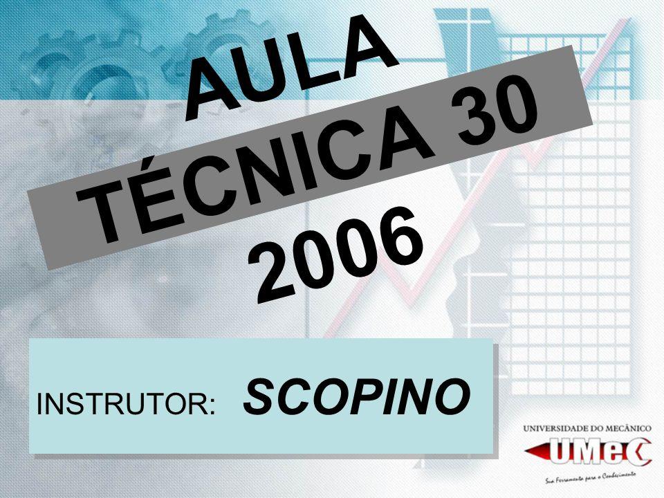 AULA TÉCNICA 30 2006 INSTRUTOR: SCOPINO
